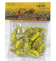 Bala de Gengibre sabor Café 50g